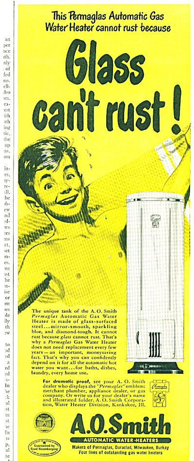 A. O.Smith automatic water heaters ad 1950 (Image1)