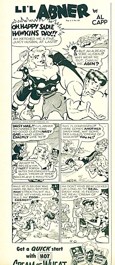 Cream of Wheat - LI'L ABNER  by All Capp ad (Image1)