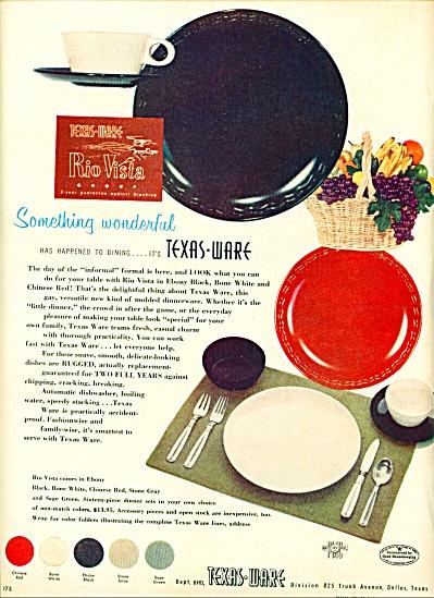 Texas Ware - Rio Vista  1953 ad (Image1)