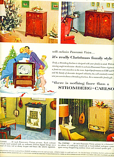 Stromberg-carlson Television Ad 1953