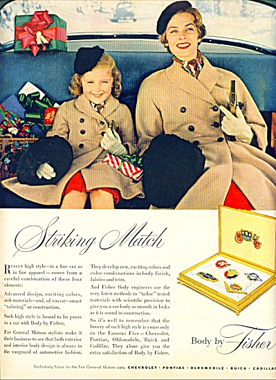 Body by Fisher ad 1953 - Striking Match (Image1)