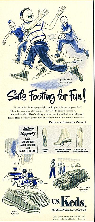 1950 U. S. Keds SHOE AD BOYS Gladiator Gore (Image1)