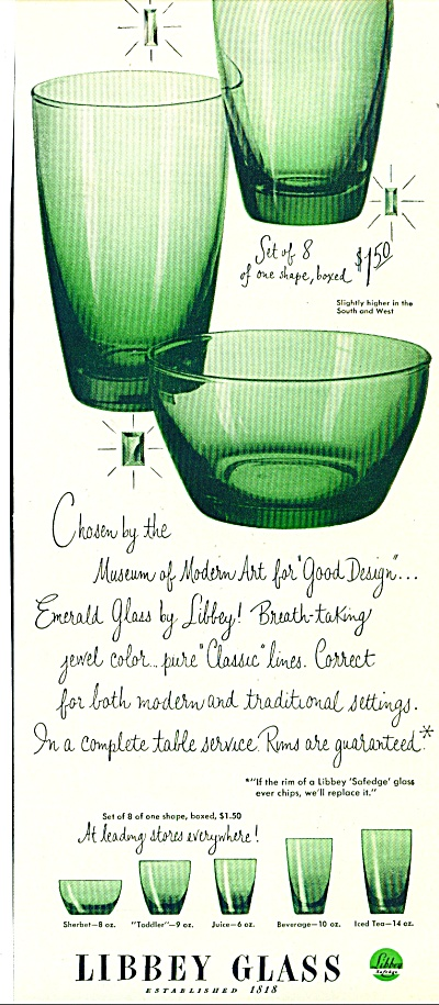 Libbey Glass 1950 Ad