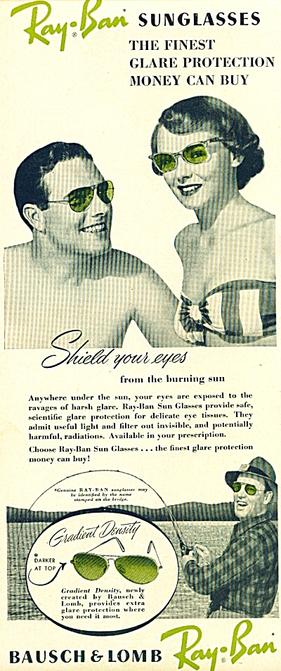 Bausch & Lomb ray- ben sunglasses ad 1950 (Image1)