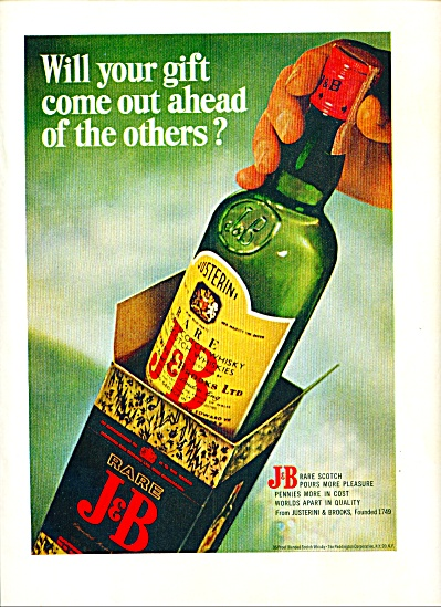 J & B Rare Scotch Whisky Ad 1967