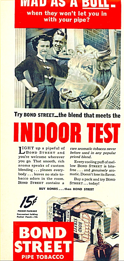 Bond Street pipe tobacco ad 1944 (Image1)
