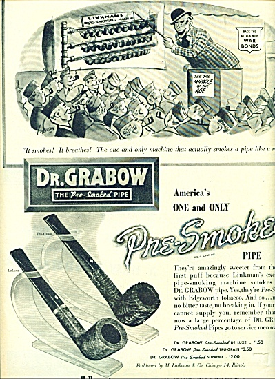 Dr. Grabow, the pre smoked pipe ad (Image1)