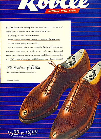 Roblee shoes for men ad 1944 (Image1)