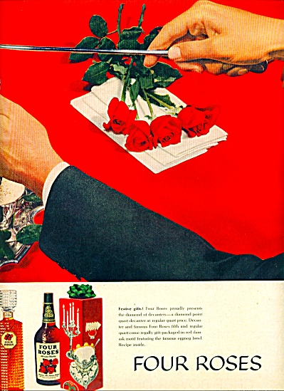 Four Roses Whiskey Ad 1959