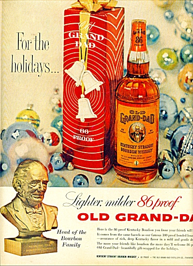 Old Grand Dad Bourbon Whiskey Ad 1959
