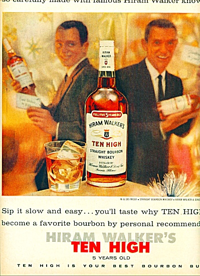 Hiram Walker's Ten High bourbon whiskey-1959 (Image1)