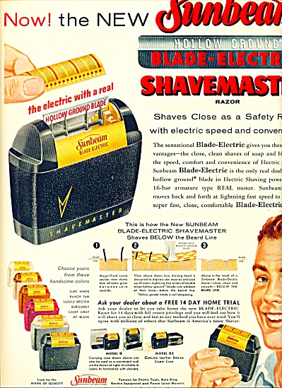 Sunbeam Blade-electric Shave Razor Ad