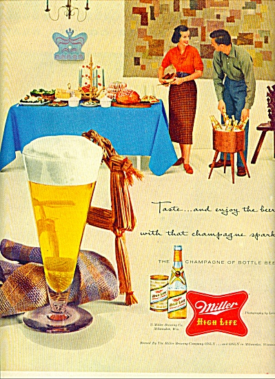 Miller High Life Beer Ad 1955