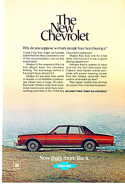 Chevrolet automobile 1978 ad (Image1)