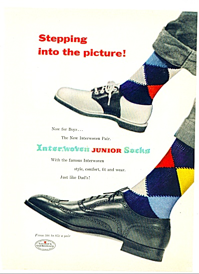 Interwoven Junior socks  ad (Image1)