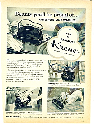 Bakelite company - Krene  ad (Image1)