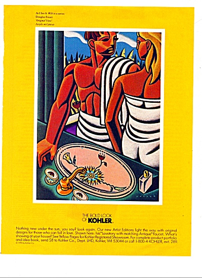 The Bold look of Kohler  ad 1992 Douglas Fraser (Image1)