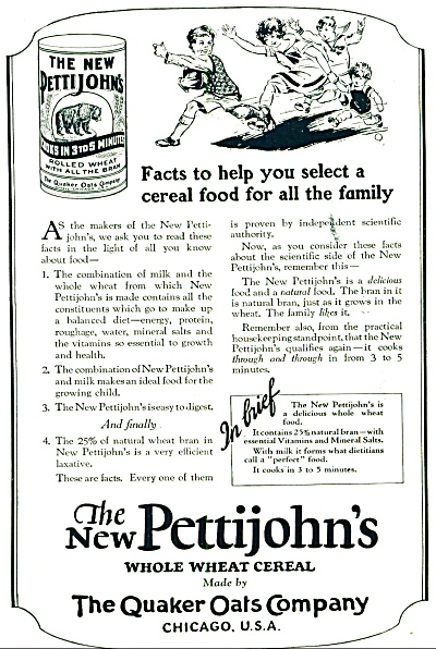 The new Pettijohn's whole wheat cereal ad (Image1)