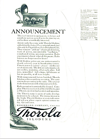 Thorola Islodyne radio receivers ad (Image1)