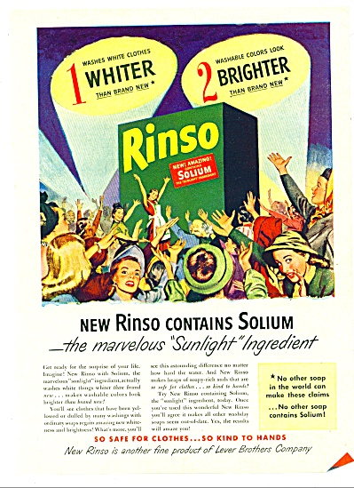 Rinso washing soap ad 1947 (Image1)