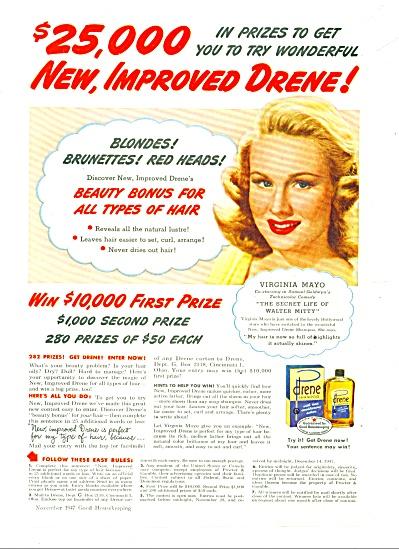 Drene shampoo - VIRGINIA MAYO  - ad (Image1)