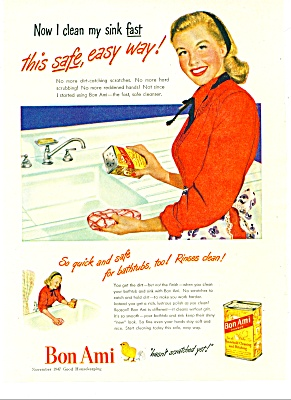 1947 Bon Ami Cleansing Powder AD (Image1)