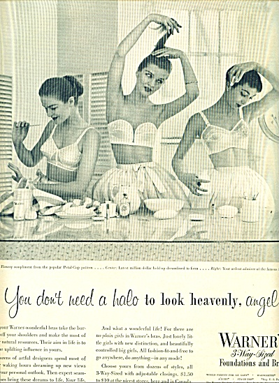 1951 WARNER'S FOUNDATION - BRA AD MODELS HALO (Image1)