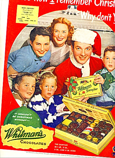 1951 Whitman's Chocolates - BOB CROSBY  AD (Image1)