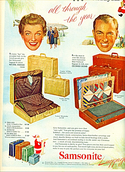 1951 Samsonite luggage AD Models - Prices (Image1)