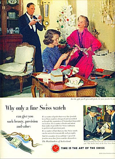 1951 Watchmakers Switzerland Swiss Watches AD (Image1)