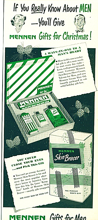 1951 Mennen SKIN BRACER Gifts for MEN AD (Image1)