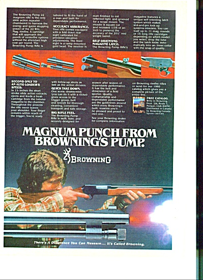 Browning pump rifle ad 1980 (Image1)