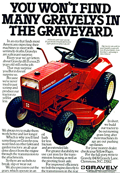 Gravely lawn tractor ad 1979 (Image1)
