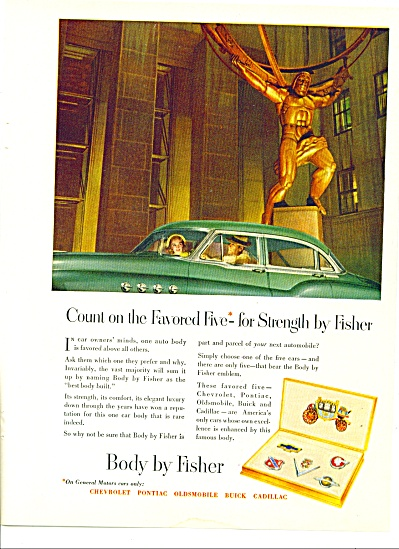 Vintage Body by Fisher PROMO CAR AD (Image1)