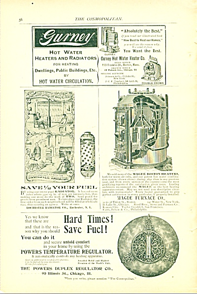 1894 Gurney Rochester RADIATOR - HEATERS ADS (Image1)