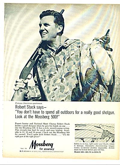 Mossberg shotgun - ROBERT STACK  ad 1969 (Image1)