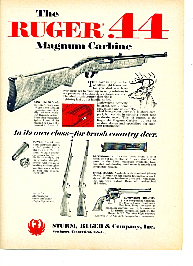 The Ruger 44 magnum carbine ad 1969 (Image1)