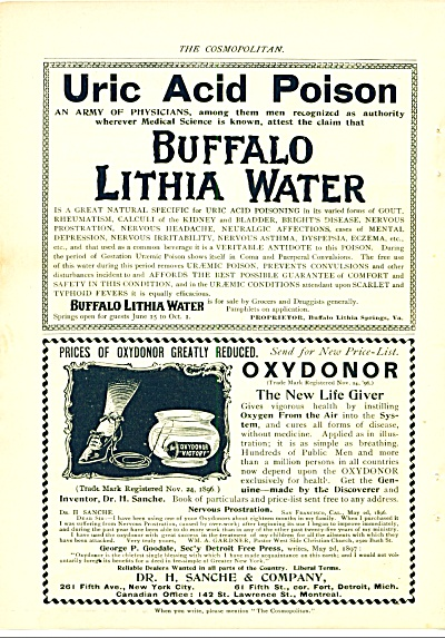1897 Buffalo Lithia Water - Oxydonor, the new life (Image1)