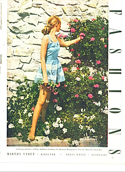 1947 6pg WOMEN'S GIRL'S FASHIONS PAGES  Model (Image1)