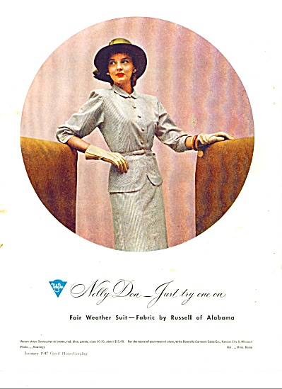 1947 NELLY DON AD - Womans FASHION OUTFIT (Image1)