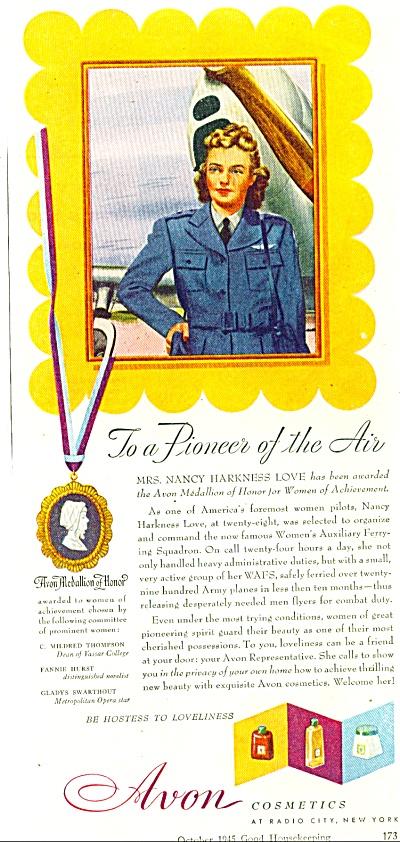 1945 AVON AD NANCY HARKNESS LOVE - PILOT AD (Image1)