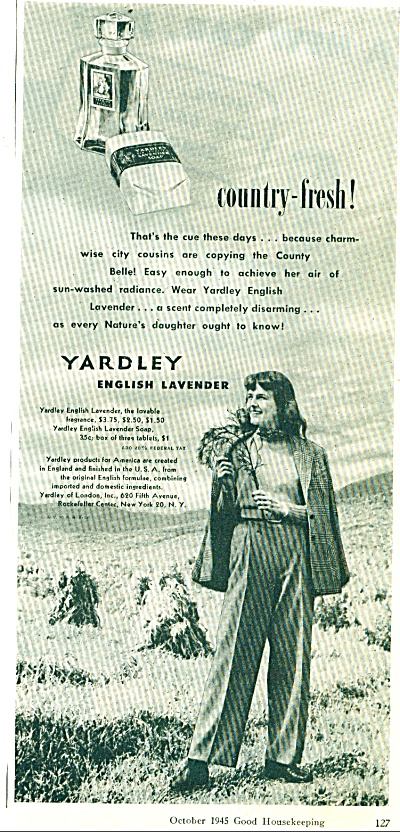 1945 Yardley English Lavender AD Woman (Image1)