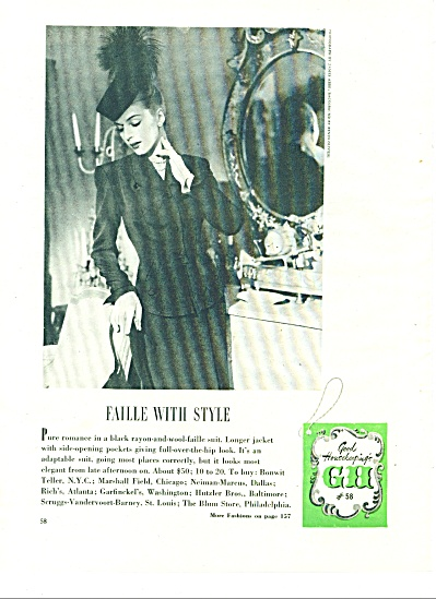 1945 8pg FASHIONS Article VTG CLOTHES MODELS (Image1)