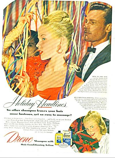 1947 Drene shampoo AD ARLENE DAHLMAN Model (Image1)