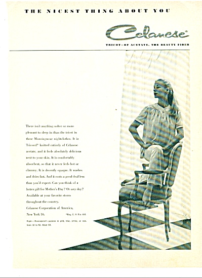 1947 Celanese Munsingwear Pajama AD MODEL (Image1)