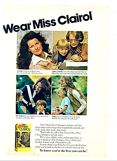 1973 Miss Clairol AD Shelly Hack +++ MODELS (Image1)