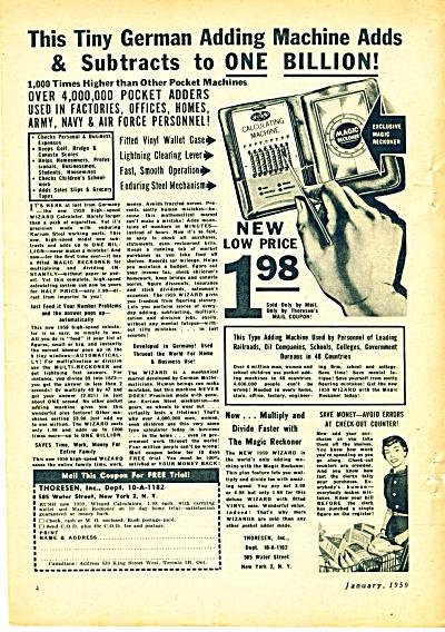 Thoresen Inc. german adding machine ad 1959 (Image1)