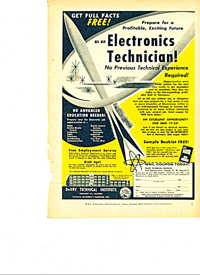 DeVry Technical Institute ad 1959 (Image1)