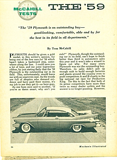 Plymouth automobile for 1959 (Image1)