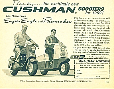 Cushman scooters for 1959 ad (Image1)